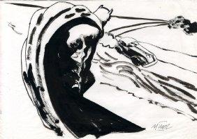 Batman Sketch - 2 Comic Art